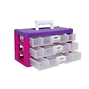 Organizador Modular de 3 Cajones Violeta lila
