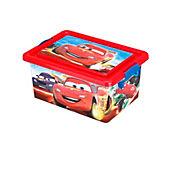 Caja plástica infantil tapa broche Cars 7 litros