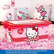 Caja plástica infantil tapa broche Hello Kitty 7litros