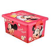 Caja plástica infantil tapa broche Minnie 13 litros