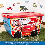Caja plástica infatil con ruedas 55 litros Cars