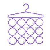 Gancho organizador de bufandas 12 espacios  morado