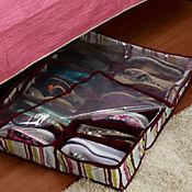 Organizador zapatos bajo cama rayas co