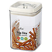 Recipiente acrílico flip-tite hermético