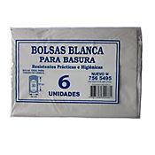 Bolsa Para Basura Blanca 56 x 80 cm 6 Und