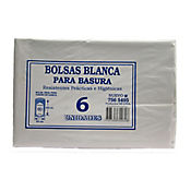 Bolsa Para Basura Blanca 65 x 100 cm 6 Und