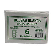 Bolsa Para Basura Blanca 49 x 70 cm 6 Und