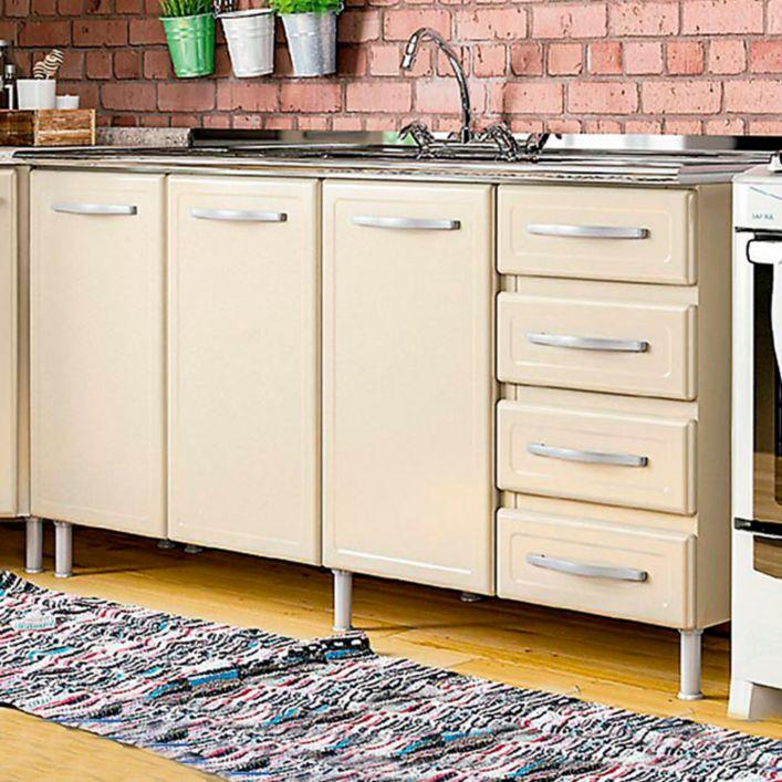 Cocinas mueble piso triple 4cajones lavaplatos 160cm for Cocinas bertolini bogota