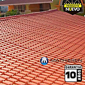 Teja Colonial Roja 0,72x1,97m 2,3mm UPVC