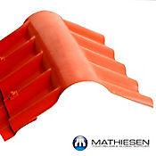 Caballete UPVC COLONIAL 72 x 50cm x 2.5mm Rojo exterior / Blanco Interior