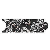 Listelo ramnta negro 8 x 25 cm