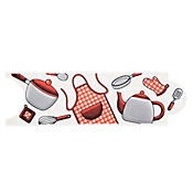Listelo utensilios rojo 8 x 25 cm