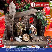 Pesebre 35cm Natividad en Casa con Luz Dear San
