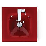 Lavamanos Vitrum 45 con superficie rojo