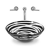 Lavamanos vessel Zebra con desagüe