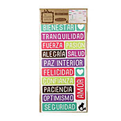 Sticker eco palabras felices