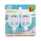 Gancho Adhesivo Decorativo Pequeno Animales Surt x2und