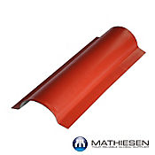 Caballete Lateral UPVC COLONIAL 82 x 29cm x 2.5mm  Rojo exterior / Blanco Interior
