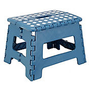 Butaco plástico plegable azul