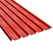 Teja Termoacustica UPVC FORTE 5.9 x 1.13m espesor 2mm Rojo exterior / Blanco Interior