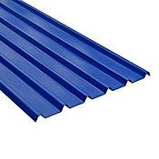 Teja Termoacustica UPVC FORTE 11.8 x 0.94m espesor 2mm Azul exterior / Blanco Interior