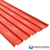 Teja Termoacustica UPVC FORTE 11.8 x 0.94m espesor 2mm Rojo exterior / Blanco Interior