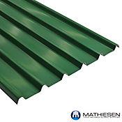 Teja Termoacustica UPVC FORTE 11.8 x 0.94m espesor 2mm Verde exterior / Blanco Interior