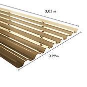 Teja Greca 3.05 x 0.99m x 0.5mm Bronce Policarbonato