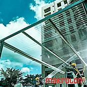 Teja Ondulada 2.44 x 0.92m x 0.5mm Transparente Policarbonato Perfil 3 tipo zinc