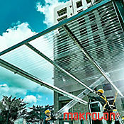 Teja Ondulada 3.05 x 0.92m x 0.5mm Transparente Policarbonato Perfil 3 tipo zinc