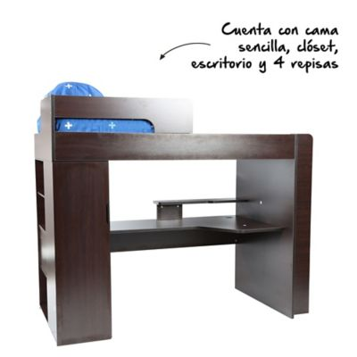 Camarote pretta wengue for Escritorios homecenter