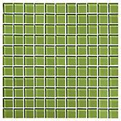 Mosaico Cristal verde oscuro 30 x 30 cm ve