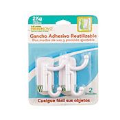 Gancho Adh Doble Uso X 2 Reutilizable P.M 2kg