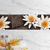Base decorada Flor de Lotto 20x60cms