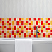 Base decorada dallas rojo 31.5x31.5cms