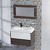 Base Cerámica Decorada para Baño Austral 30x75 cm Multicolor