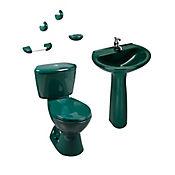 Combo Manantial con pedestal caja Verde oscuro