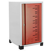Locker Metálico Apilable 1 puesto 50x30x31 cm Rojo