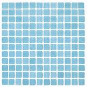 Mosaico Cerámico Venecita 32.4x32.4 cm Azul Claro