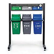 Punto Ecológico 3 Puntos No Reciclable, Papel Cartón, Plástico 10 Lt