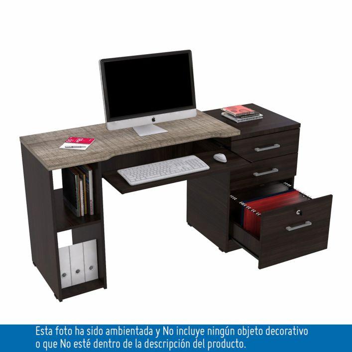 Muebles escritorio archivador madera aglomerada for Muebles de oficina falabella