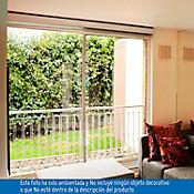 Puerta corrediza 1.8 X 2.1 m vidrio templado 4 mm Elegance con mosquitero
