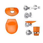 Kit happy tapa y accesorios color  naranja