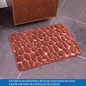 Tapete para Baño Foam 43x61 cm Rocks Café
