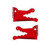 Soporte Infantil Cocodrilo Rojo 2 unidades