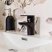Grifería monocontrol baja lavamanos Black mate desin