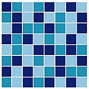 Base Cerámica Decorada para Baño Dallas 31.5x31.5 cm Azul
