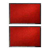 Set x2 Tapetes Canales 60x40 cm Rojo