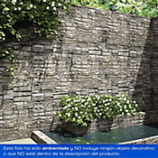 Piedra fortaleza ancho 10cm gris Caja 0.5m2