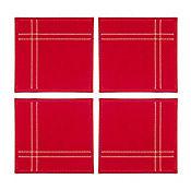 Set de 4 Porfavasos Rojo